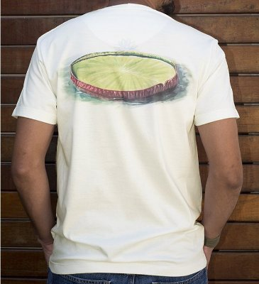Camiseta estampa Vitória Régia - Artista Ricardo Sanchez
