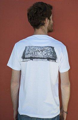 PROMOÇÃO !!! Camiseta Masculina de Algodão Orgânico - Estampa Oca - Artista Edina Sikora
