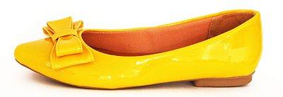 Sapatilha Amarela com Laço Flor