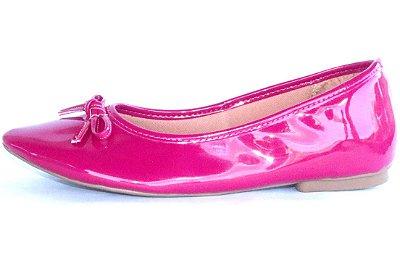 Sapatilha Pink Verniz com Laço