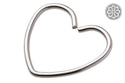 Piercing de Coração para Cartilagem em Aço