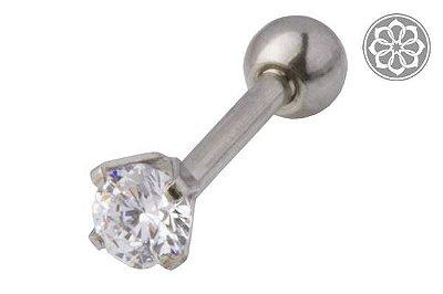 Piercing Microbell Reto em Aço com Zircônia