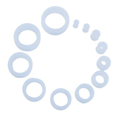 Piercing Alargador - Flesh Tunnel White Acrylic