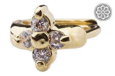 Piercing Hélix com Pedra Estrela Folheado a Ouro