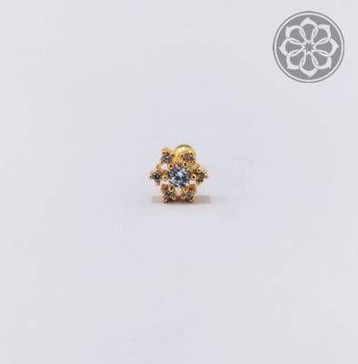 Piercing Microbell Reto com Mandala - Folheado a Ouro