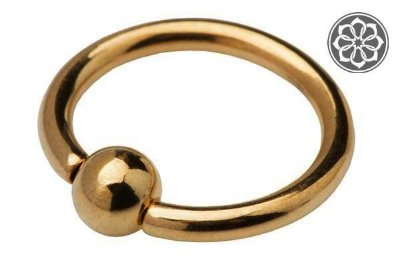 Piercing Captive Dourado em Titânio
