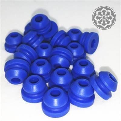 Borracha Grommet para Haste - Azul