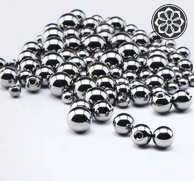Bolinhas Pequenas em Aço - Prata
