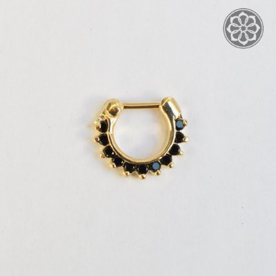 Piercing Indiano Médio com Pedras - Folheado a Ouro