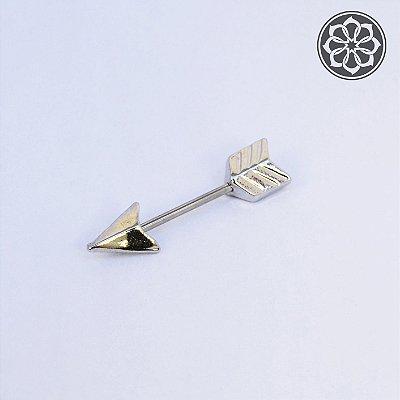 Piercing Microbell Reto de Flecha em Aço