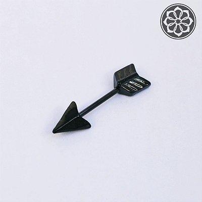 Piercing Microbell Reto com Flecha - Preto
