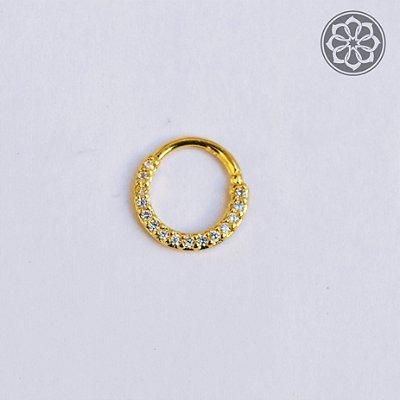Piercing Hélix com Pedra de Zircônia - Folheado a Ouro