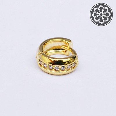 Piercing Hélix com Pedra de Zircônia - Folheado a Ouro - Modelo 2
