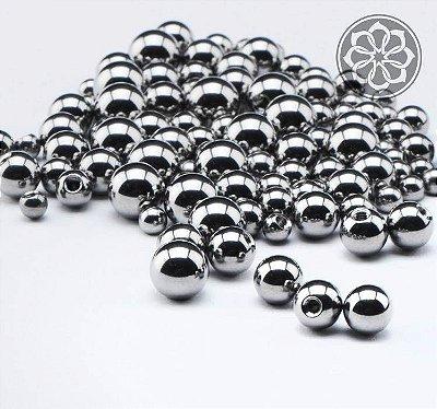 Bolinhas Extra Pequena em Aço - Prata