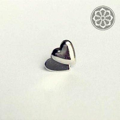Piercing Microbell Reto - Coração Duplo - Em Aço