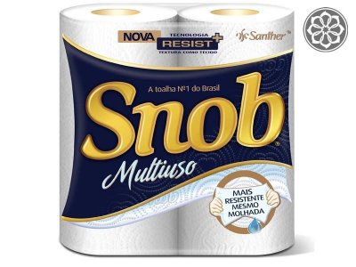 Papel Toalha - Snoob - 2 Unds