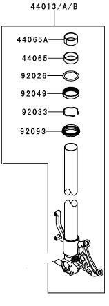 TUBO GARFO INT ESQ VERMELHO - 44013-0261-10B