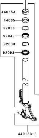 TUBO GARFO INT DIR VERMELHO - 44013-0262-10B