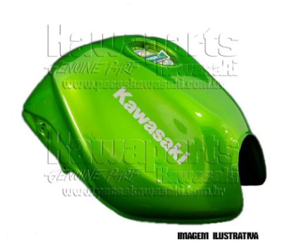 TANQUE COMBUSTIVEL VERDE METALICO Z750 2010 - 51085-5249-17P