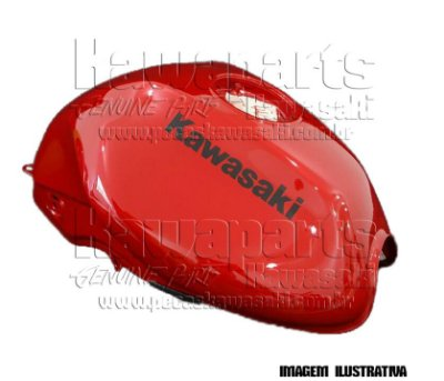 TANQUE COMBUSTÍVEL VERMELHO ER-6N 2011 - 51086-5375-G2