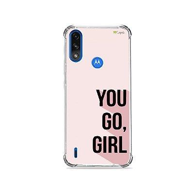 Capa para Moto E7 Power - You Go, Girl