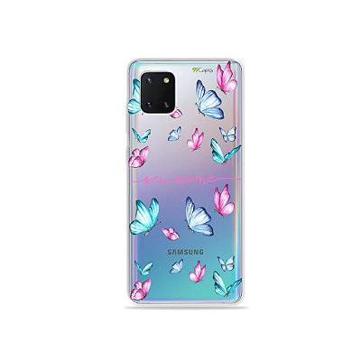 Capa Butterfly com nome para Samsung A