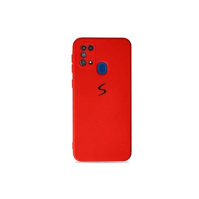 Silicone Case Vermelha para Galaxy M31