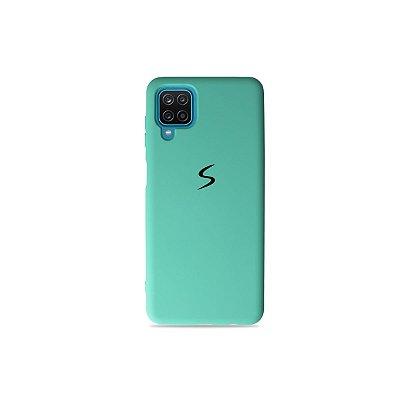 Silicone Case Verde Água para Galaxy A12