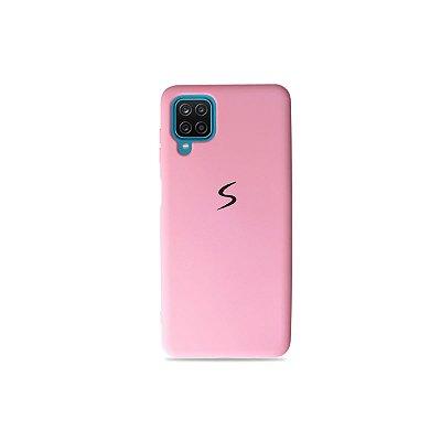 Silicone Case Rosa Claro para Galaxy A12