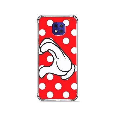 Capa para Moto G10 Play - Coração Minnie