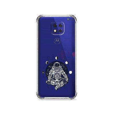 Capa (Transparente) para Moto G10 Play - Astronauta