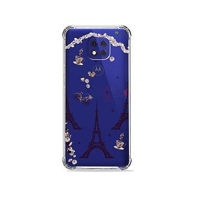 Capa (Transparente) para Moto G10 Play - Paris