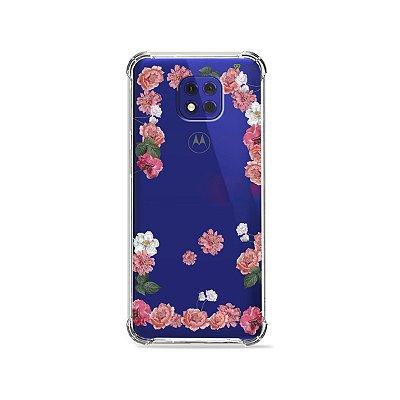 Capa (Transparente) para Moto G10 Play - Pink Roses