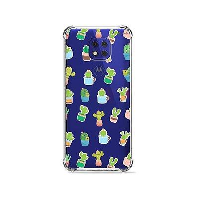 Capa (Transparente) para Moto G10 Play - Cactus