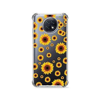 Capa (Transparente) para Xiaomi Redmi Note 9T - Girassóis