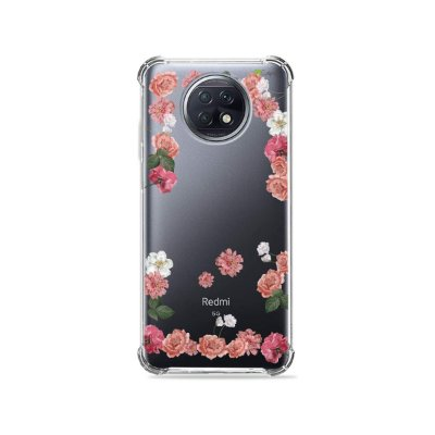 Capa (Transparente) para Xiaomi Redmi Note 9T - Pink Roses