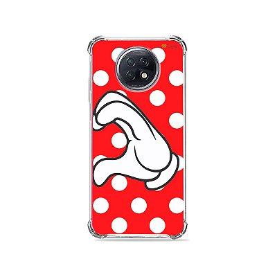 Capa para Xiaomi Redmi Note 9T - Coração Minnie
