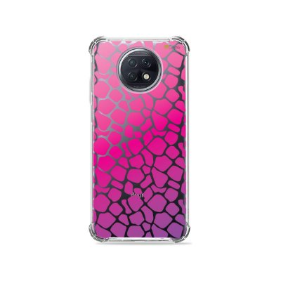 Capa (Transparente) para Xiaomi Redmi Note 9T - Animal Print Pink