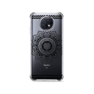 Capa para Xiaomi Redmi Note 9T - Mandala Preta