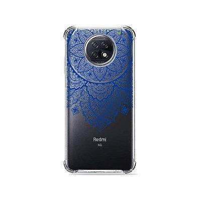 Capa (Transparente) para Xiaomi Redmi Note 9T - Mandala Azul