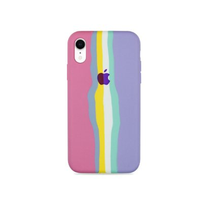 Silicone para iPhone XR - Listras Candy
