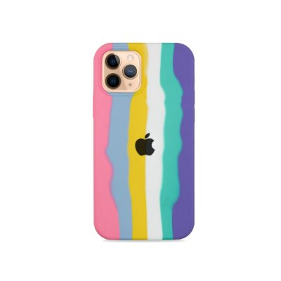 Silicone para iPhone 12 Pro Max - Listras Candy
