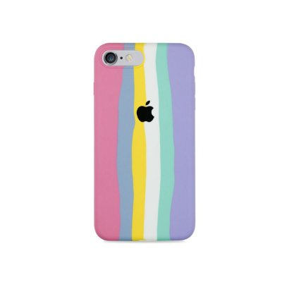 Silicone para iPhone 7 - Listras Candy