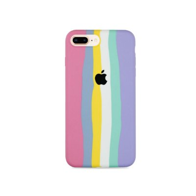 Silicone para iPhone 7 Plus - Listras Candy