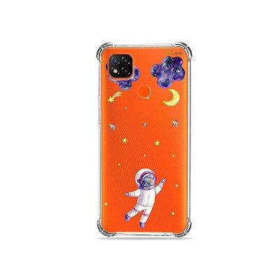 Capa (Transparente) para Redmi 9C - Astronauta Sonhador