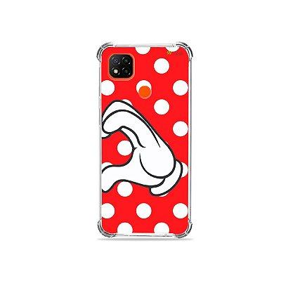 Capa para Redmi 9C - Coração Minnie