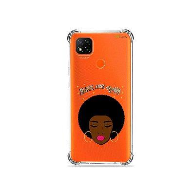 Capa (Transparente) para Redmi 9C - Black Lives