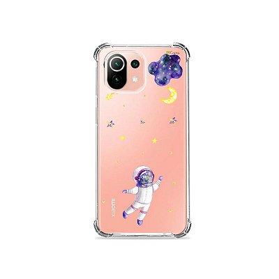 Capa (Transparente) para Xiaomi Mi 11 Lite - Astronauta Sonhador