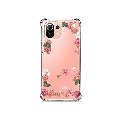Capa (Transparente) para Xiaomi Mi 11 Lite - Pink Roses