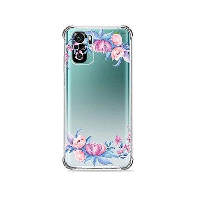 Capa (Transparente) para Xiaomi Redmi Note 10 4G - Bromélias